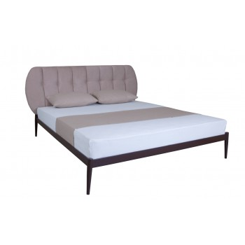 Кровать металлическая с мягкой спинкой Бьянка 01