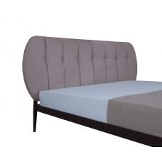 Ліжко металева з м'якою спинкою Бьянка 01